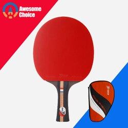 4 gwiazdki wykończone rakieta do tenisa stołowego pryszcze w obu gumy szybki atak z pętli Ping Pong gra rakieta w Rakietki do tenisa stołowego od Sport i rozrywka na
