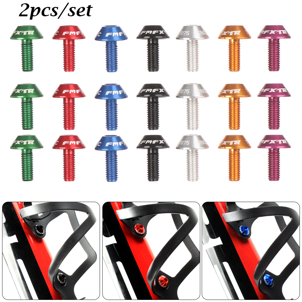 Bicycle Water Bottle Cage Holder Screw Bolts Durable Colorful Bike AccessoriesGG