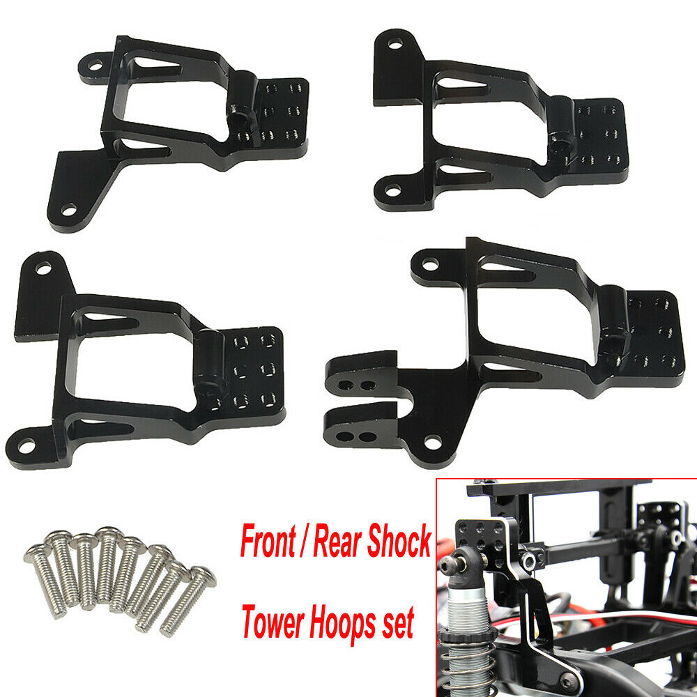 YEAHRUN 1/10 RC Aluminum Front / Rear Shock Tower Hoops Bracket Mount For TRAXXAS TRX-4