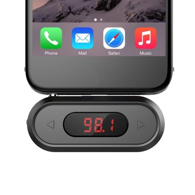 FM Transmitter FM Radio Calling Wireless Radio 3.5mm Jack Adapter for iPhone for Android Car Speaker Doosl