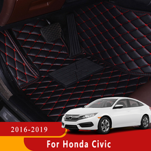 Car Floor Mats For Honda Civic 2021 2020 2019 2018 2017 2016 Auto Carpets Accessories Interior Styling Custom Pads Waterproof