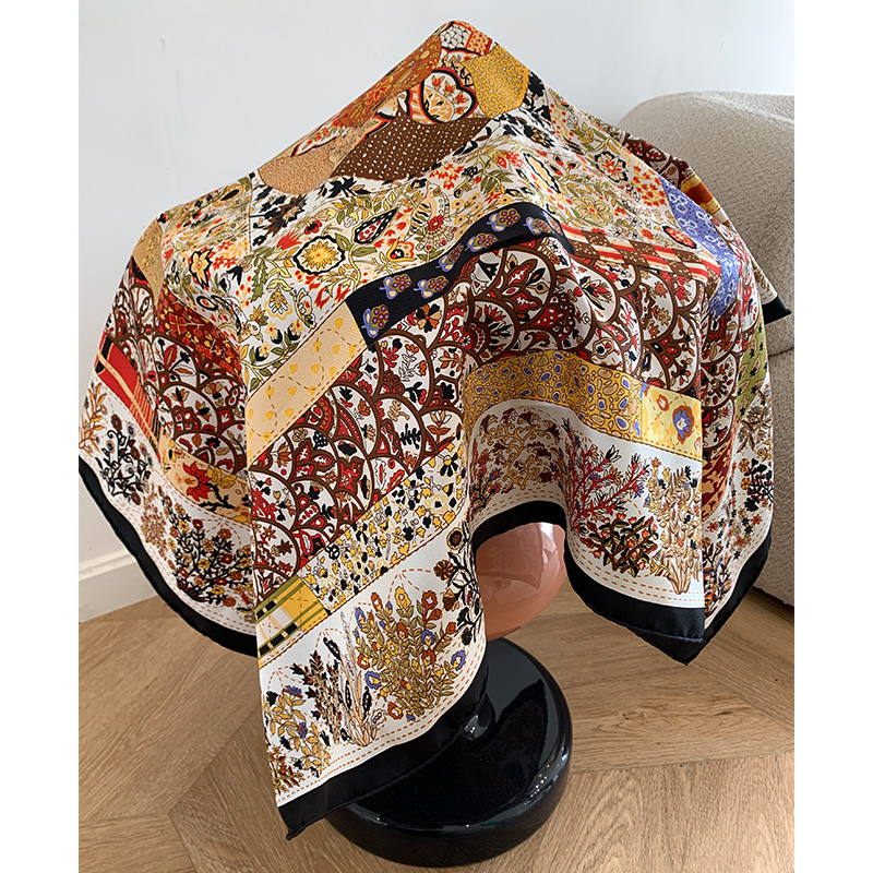 Square 100% Silk Scarf Shawl Wraps Spring Fashoin Scarves For Women Ladies Gifts 35