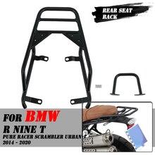 รถจักรยานยนต์ด้านหลังที่นั่งกระเป๋า Carrier Rack Fender Saddlebag Cargo ชั้นวางสำหรับ BMW R Nine T NineT Pure Racer Scrambler 2014   2020