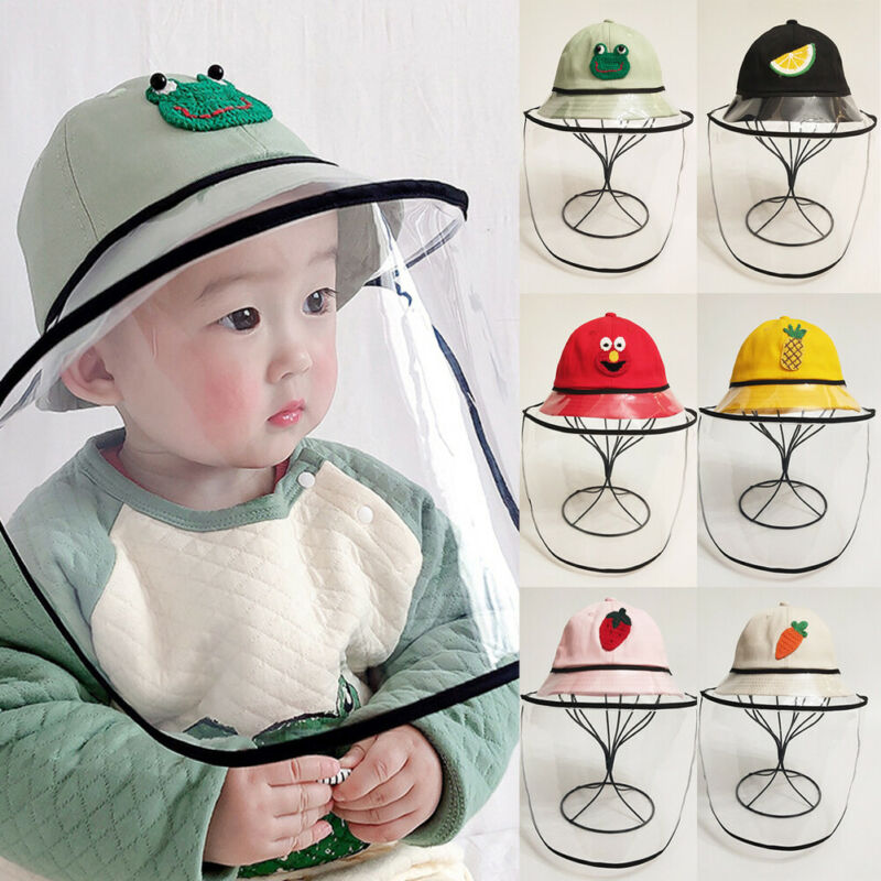 Baby Protection Accessories Dustproof Anti-Spitting Face Shield Outdoor Protective Cover Cap Baseball Hat