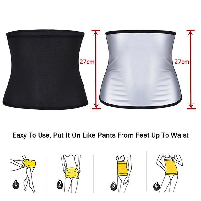 Gym Fitness Sports Exercise Waist Support Pressure Protector Body Building Trainer Trimmer Belt Slim Sweat For Women 4