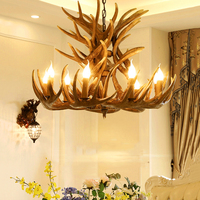 Modern LED Chandelire E14 Pendant Lights Lighting Hanglamp Industrial Buck Deer Horn Antler Bedroom Living Room Kitchen Fixtures
