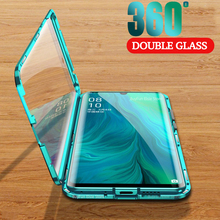 غلاف زجاجي مغناطيسي على الوجهين لهاتف Xiaomi ، poco x3 ، nfc ، x2 ، Redmi 9a ، 9c ، Note 9t ، 9s ، 9 Pro Max ، 360