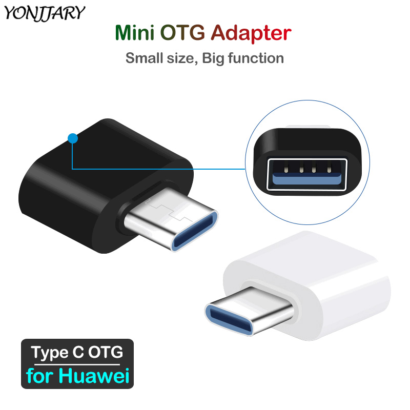 2Pcs USB Type C OTG Adapter For Huawei P20 P30 Pro Lite Honor 20 9X Mate 9 10 20 30 Pro Lite Nova 4 5 OTG Reader Data Converter