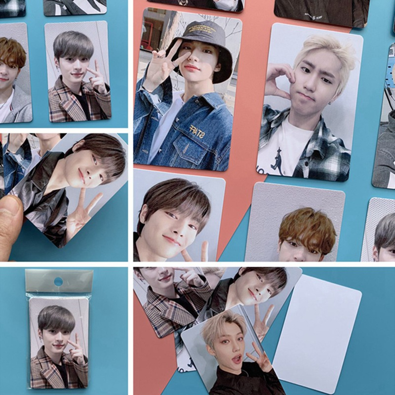 9PCS/Set Kpop Stray Kids Photo Card Yellow Miroh Yellow Wood Album Lomo Card Photocard For Fans Collection Gift
