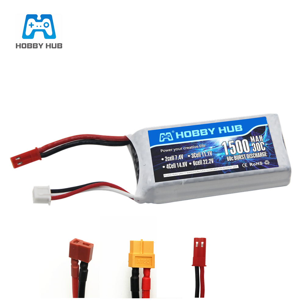 High Rate 7.4V 1500mAh Lipo Battery For RC Halicopter Parts 2s Lithium battery 7.4 v 30C Airplanes battery with JST/T/XT60 Plug(China)