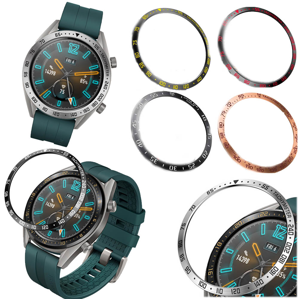 For Huawei Watch GT2 46MM Steel For Samsung Galaxy Watch 46MM/ Gear S3 Frontier Classic Bezel Ring Adhesive Anti Scratch Cover