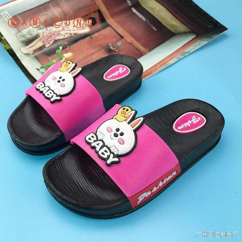 BAMILONGรองเท้าแตะเด็กการ์ตูนด้านล่างนุ่มลื่นรองเท้าแตะชายหาดเด็กบ้านห้องน้ำFlip Flops S95