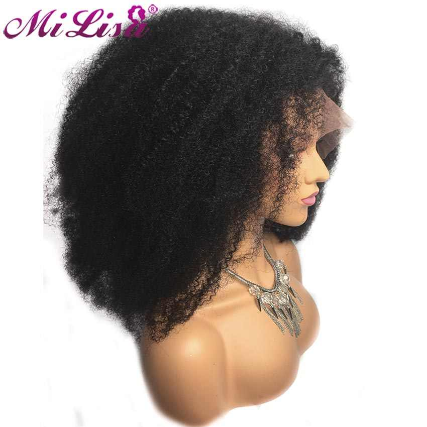 Kinky Curly Wig Brazilian Lace Front Human Hair Wigs Pre Plucked with Baby Hair Remy Hair 13x4 Lace Front Wigs For Black Women