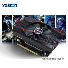 Yeston radeon rx 560d gpu 4gb gddr5 128 bit gaming desktop computer video grafische kaarten ondersteuning DVI-D/hdmi-compatibel
