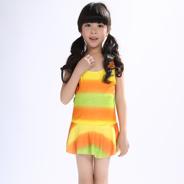 One-piece Swimming Suit KID'S Swimwear Children Skirt Cute Princess Tour Bathing Suit Swimwear