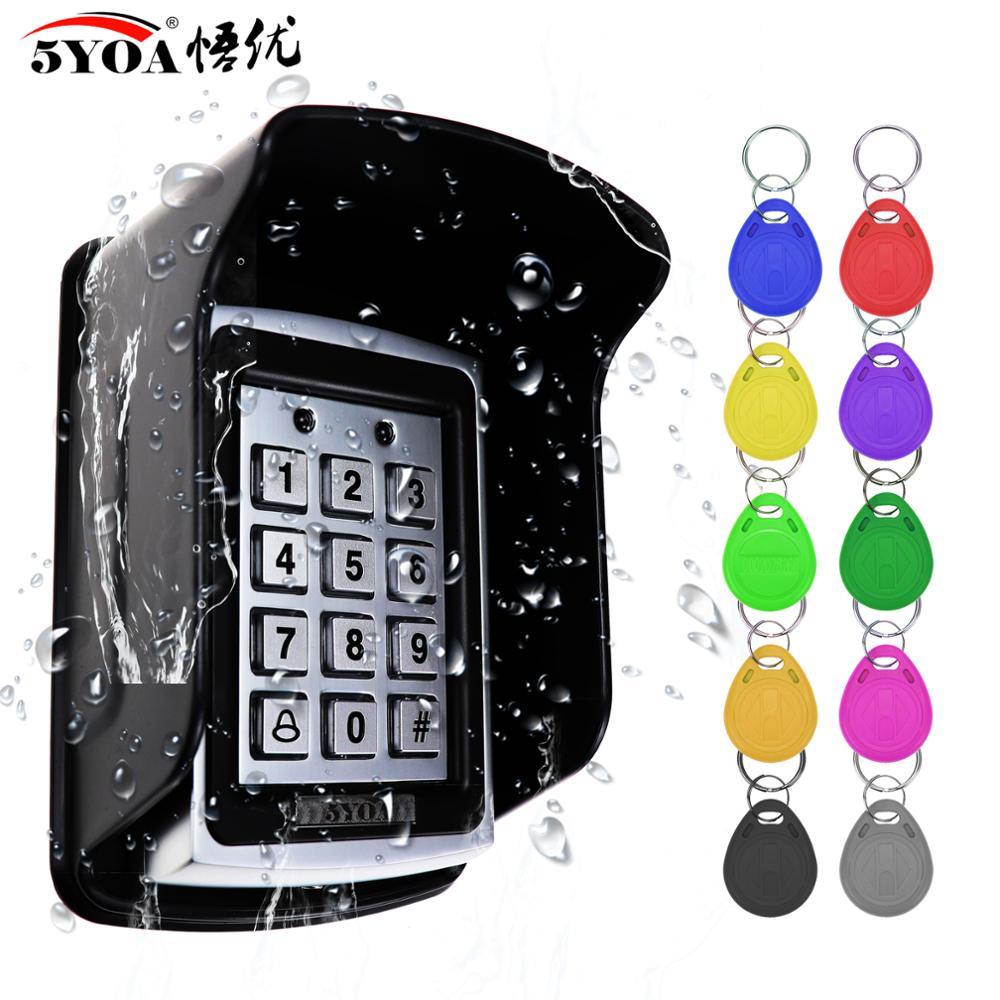 Металлическая RFID Клавиатура с контролем доступа, водонепроницаемый непромокаемый чехол для открывания дверей, электронная система блокир...