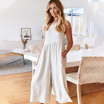 Fashion Wide Leg Pants Jumpsuit Women Elegant Sexy Cross Hanging Neck Halter Black Jumpsuits Female 2020 Rompers Womens Jumpsuit european and american fashion elegant chiffon jumpsuits piece pants 2018 summer rompers office lady womens jumpsuit