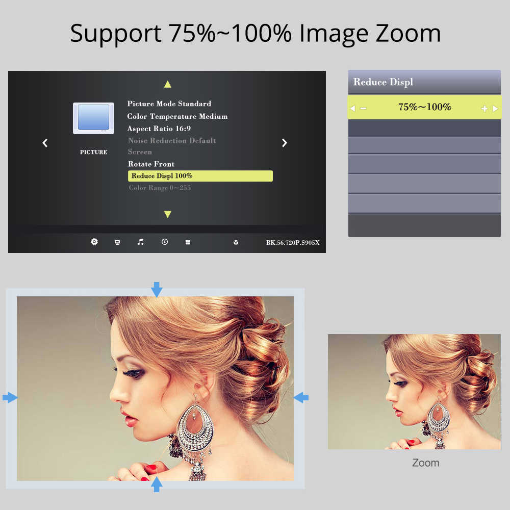 Proyector de vídeo LED TouYinger T6 HD 720P opción HDMI portátil Android proyector wi-fi soporte 4K Full HD 1080p cine en casa