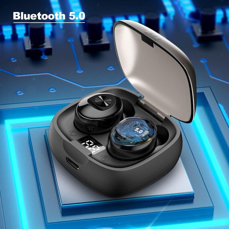 Arlado XG-08 Bluetooth 5.0 Earphone Waterproof Mini Wireless Headphones Sport 3D Stereo Earbuds With LED Digital Display