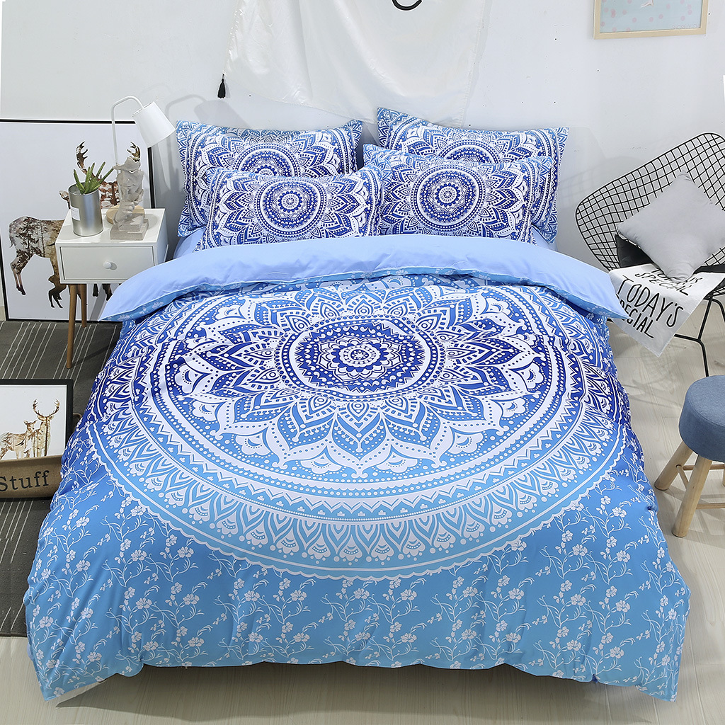 Digital Printing Three Sets Of Quilt Cover America Size Pieces Textile