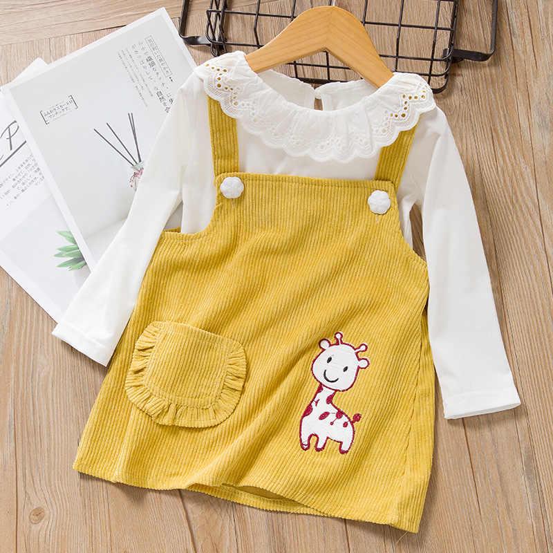 Conjuntos de ropa de bebé Melario niñas vestido de recién nacido Ropa Nueva Linda jirafa niña vestido camiseta traje 2 uds conjuntos de ropa infantil conjunto