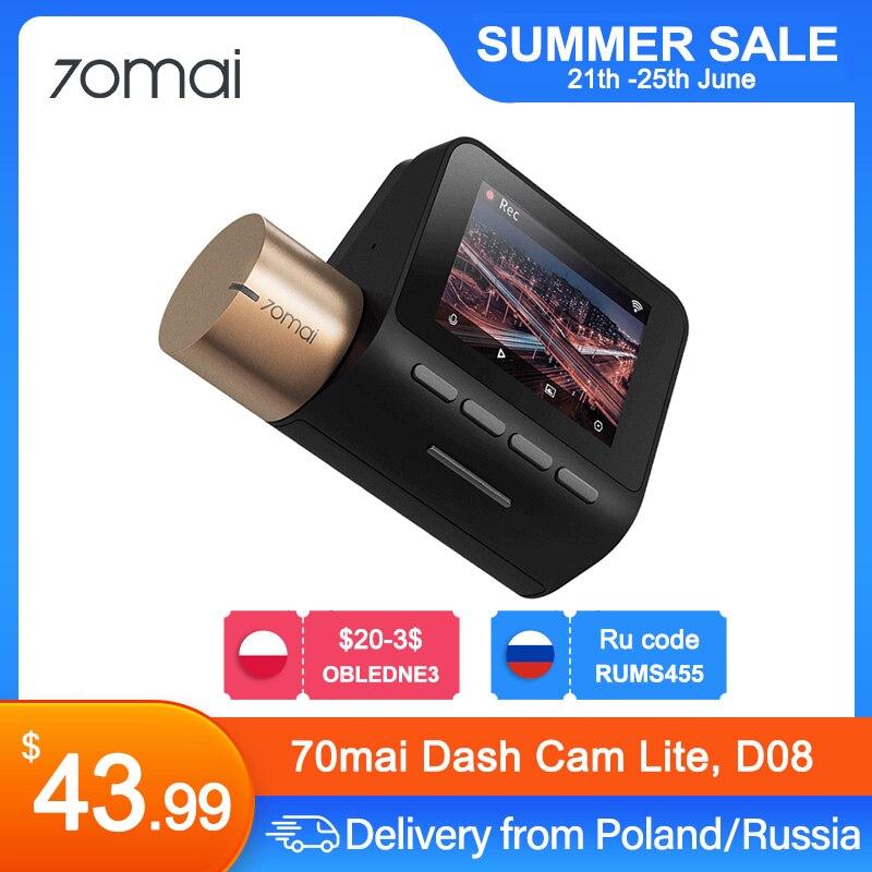 70mai Dash Cam Lite 1080P 70mai Lite беспроводной HD Автомобильный видеорегистратор Регистраторы 24 часа в сутки для парковочной системы 70mai Lite Видеорегистр...