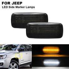 2x LED Front Side Marker Light For JEEP Patriot 2007-2017 Compass Commander 2006- 2010 Liberty Grand Cherokee Chrysler Dodge power front window lifter switch 04602781aa 4602781aa fit for dodge charger durango magnum avenger jeep grand cherokee commander