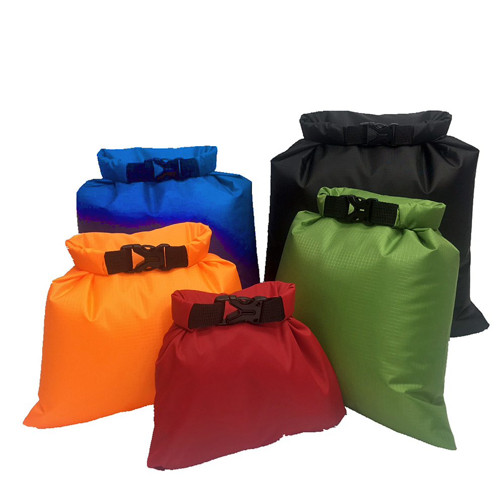 5PCS Outdoor Trekking Waterproof Bag Ultralight Swimming Dry Bag Outdoor Nylon Kayaking Storage Drifting Waterproof Rafting Bag