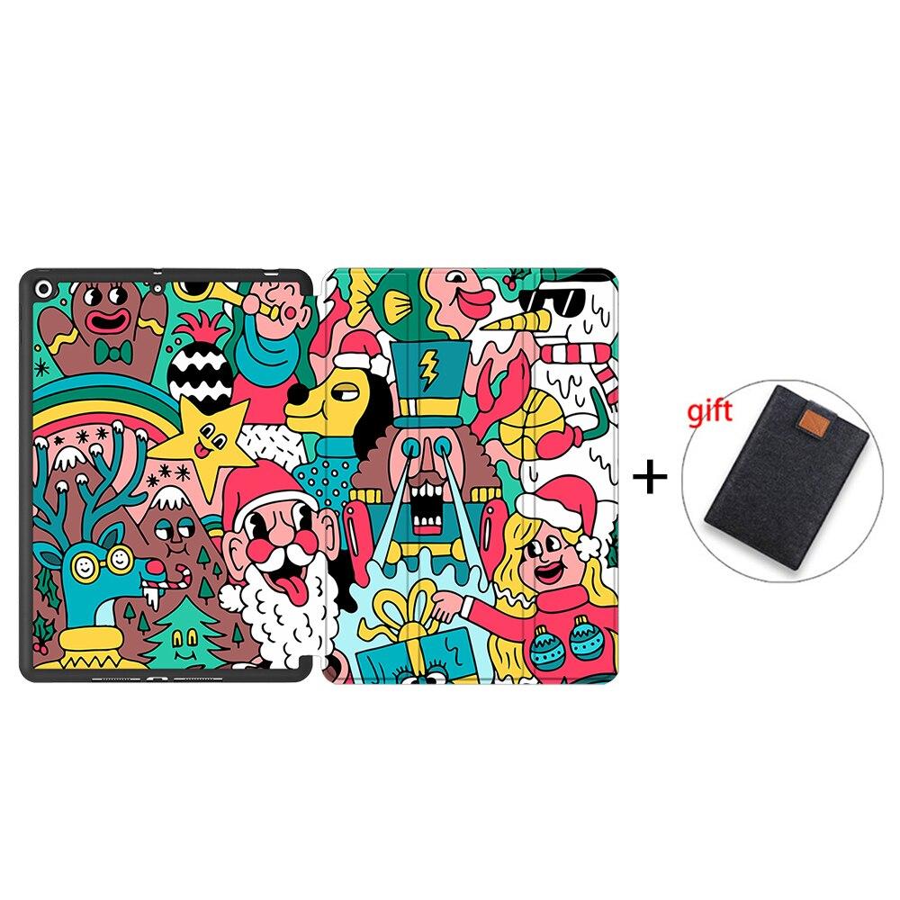 IPBC18 MULTI MTT Tablet Case For iPad 10 2 inch 7th 8th Generation 2020 Soft TPU PU Leather