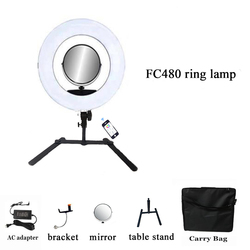 Yidoblo 18inch FC480 RGB LED Ring Light LED Video Makeup Lamp Photography Movie film Studio broadcast Ring lamp/Table stand/bag