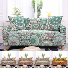 sofa cover elastic sofa cover 2020 new 3d printing non slipl shape 1 2 3 4 seater couch cover sofa cover for living room Geometric Flower Slipcovers Stretch Sofa Cover Elastic Sofa Cover For Living Room Couch Cover Sofa Protector 1/2/3/4-Seater