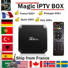 X96 MINI android TV BOX 1 an Europe IPTV abonnement France royaume-uni allemand arabe néerlandais suède français pologne Portugal TV IPTV M3U(China)