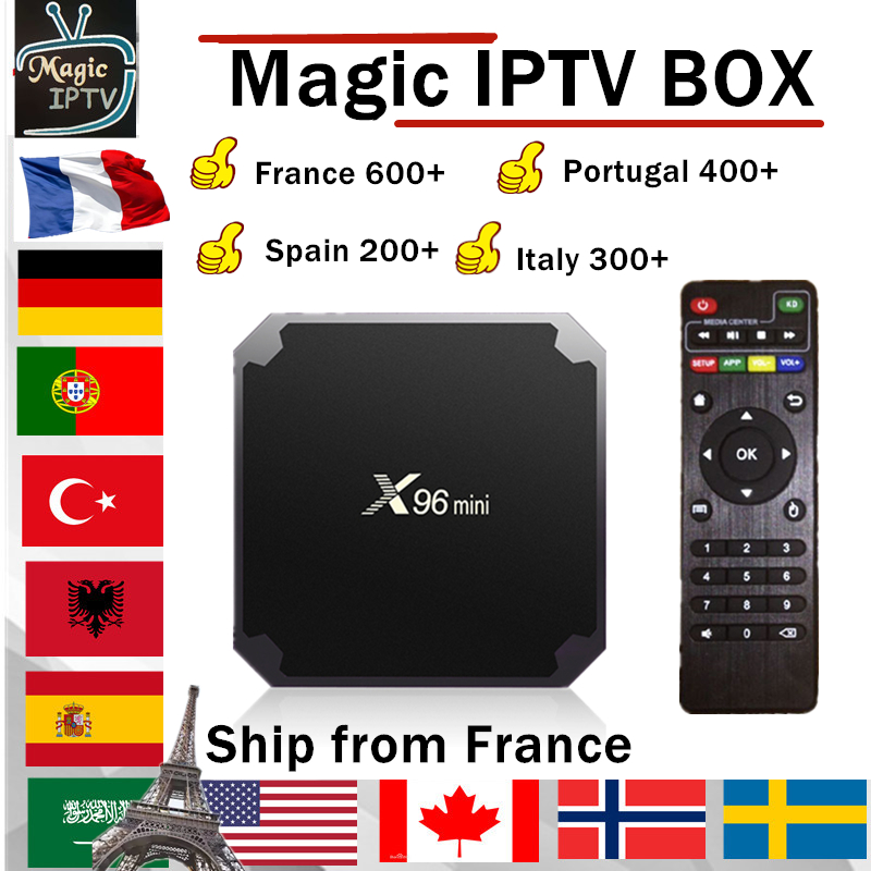 X96 MINI android TV BOX 1 an Europe IPTV abonnement France UK allemand arabe néerlandais suède français pologne Portugal TV IPTV M3U-in Décodeurs TV from Electronique    1