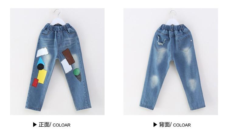 Kids Girls Jeans Pants autumn Fashion Leggings Cartoon Cat Children Pencil Long Trousers Pantalon Fillette for Under 11 Yrs 5
