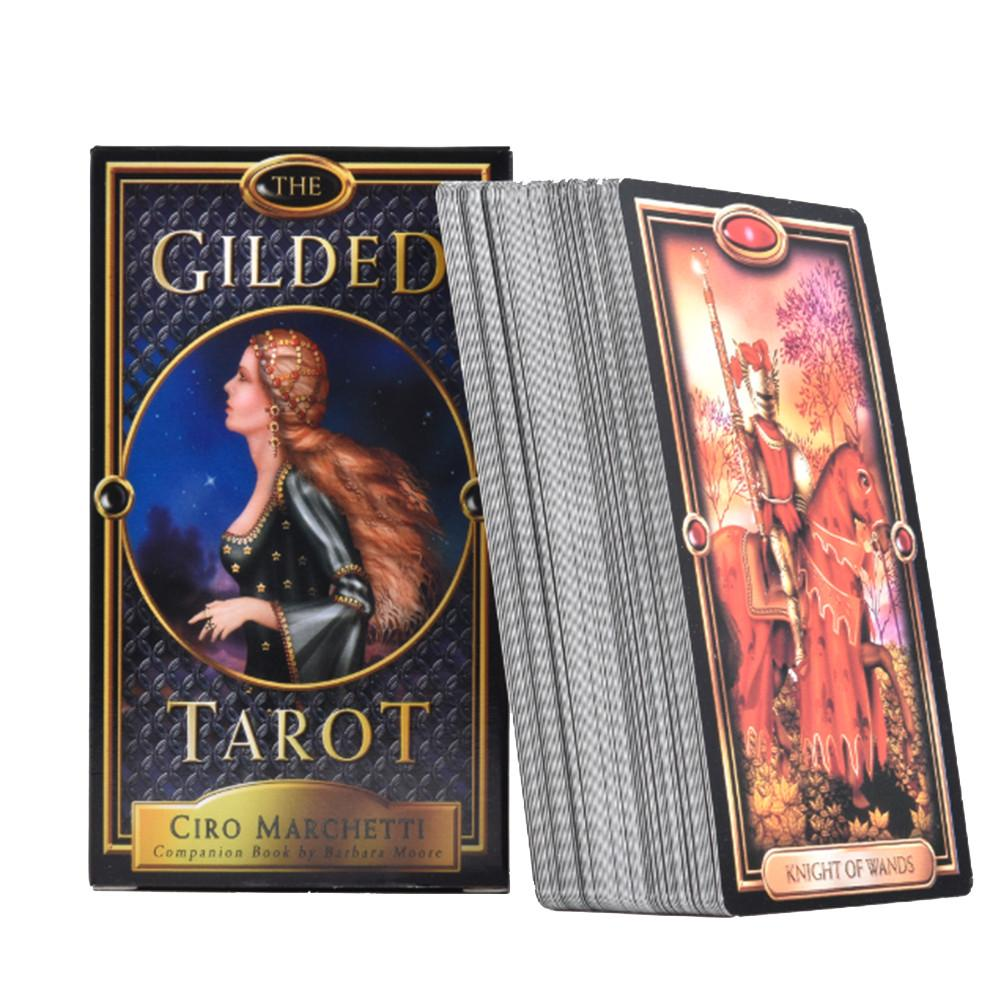 New 78Pcs The Gilded Tarot Tarot Card Deck Board Games Cards For Family Gathering Party Playing Card Games