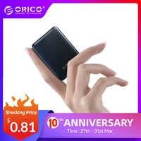 ORICO 5000 mAh Mini Power Bank Tragbare Lade Externe Batterie Slim Power Poverbank 5000 mAh Für iphone Xiaomi Smartphone