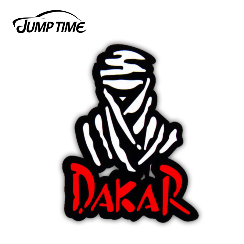 Jump Time 13cm X 10cm For Dakar Rally Auto Moto Racing Anime Funny Car Stickers JDM Vinyl Car Wrap Bumper Trunk Truck Graphics