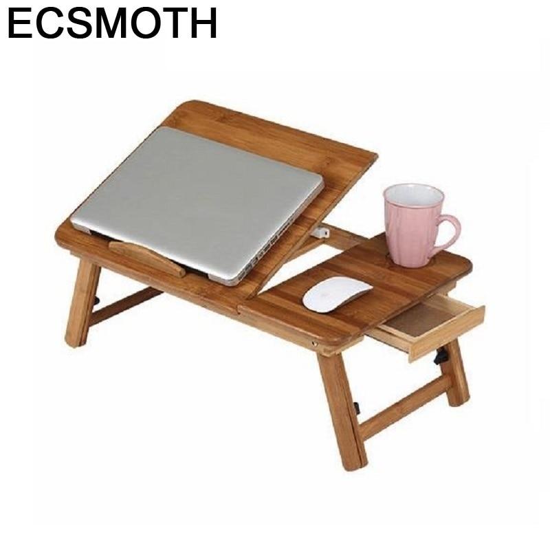 Lap Pliante Tisch Adjustable Scrivania Ufficio Portatil Mesa Notebook Bamboe Stand Laptop Bedside Study Desk Computer Table