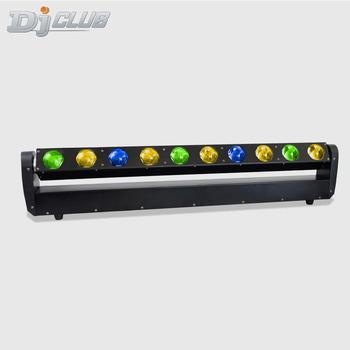 Listwa LED światła dj-skie lira wiązka ruchoma głowica DMX światło 10X40W RGBW dyskoteka efekt oświetlenie sceniczne dla klubu nocnego parkiet taneczny tanie i dobre opinie djclub Rohs CN (pochodzenie) Efekt oświetlenia scenicznego Oświetlenie sceniczne DMX 400 w D-400 Profesjonalne stage dj