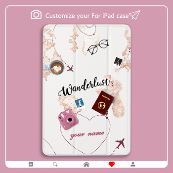 Personalized Custom World Travel Air ipad Case Mini For pro 11 case Luxury 10 2 7th generation Cover for 12 9