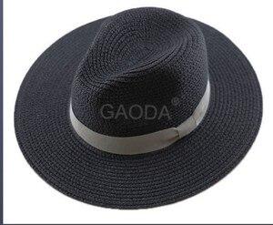 Image 5 - Big Head Man Large Size Panama Hat Lady Beach Sun Cap Male Fedora Hat Men Plus Size Straw Hat 55 57cm 58 59cm 60 62cm 62 64cm
