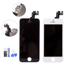 Full Assembly LCD Display Digitizer For IPhone 5 S C LCD Touch Replacement Screen For IPhone 5S 5C No Dead Pixel Black/White