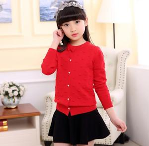 Image 3 - 2020 spring childrens clothes girls sweaters casual solid long sleeve baby girl knitted cardigan sweaters for girls big kids