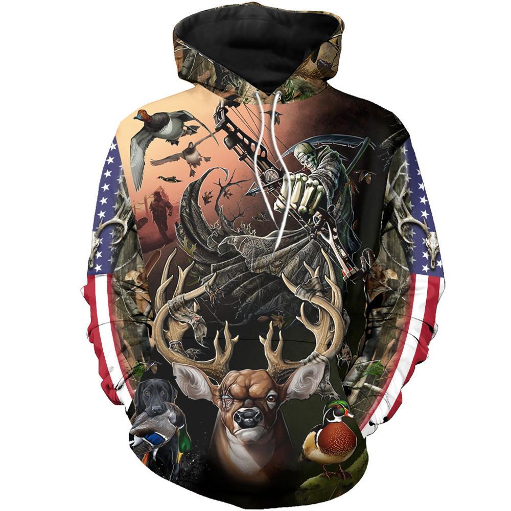 Camo AMO HUNTING ANIMALS Deer ART 3D Hoodies Hoodie Men Women New Fashion Hooded Sweatshirt Long Sleeve Casual Pullover-13