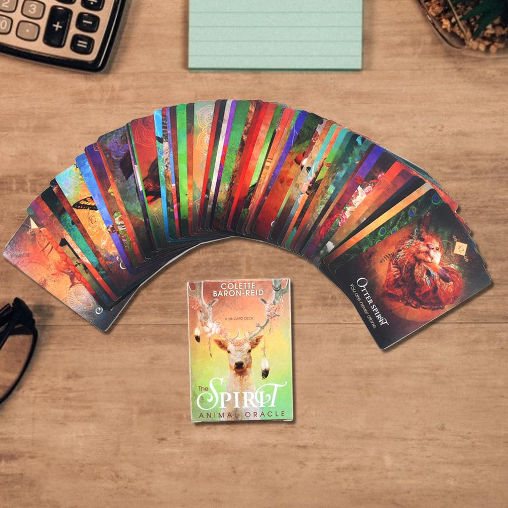 68PCS/set Tarot Cards Set Full English For The Spirit Animal Oracle Factory Made High Quality Tarot Deck Board Game Tarot Cards image