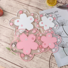 1/2pcs Cherry Blossom Heat Insulation Table Mat Family Office Anti-skid Cup Coaster Tea Cup Milk Mug Coffee Cup Coaster
