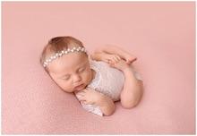 Baby Girls Pearl Rhinestone Headbands Infant Elastic Hairbands Head Band Children Hair Accessories Wedding Headwear