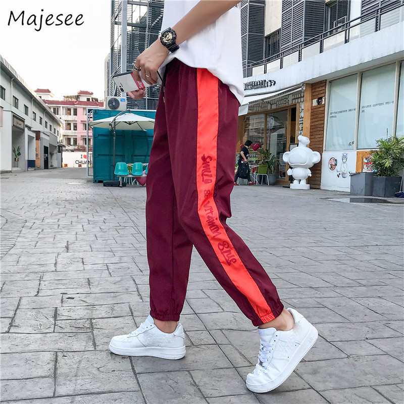 Pants Men Thicker Plus Velvet Striped Letter Printed Streetwear Pockets Leisure Large Size Harem Pant Mens Harajuku Trousers