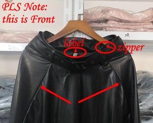 Image 5 - Новинка 2020, модные женские юбки из искусственной кожи на осень и зиму, женские юбки с высокой талией, трапециевидные миди до середины икры, длинные черные, винно красные, с поясом