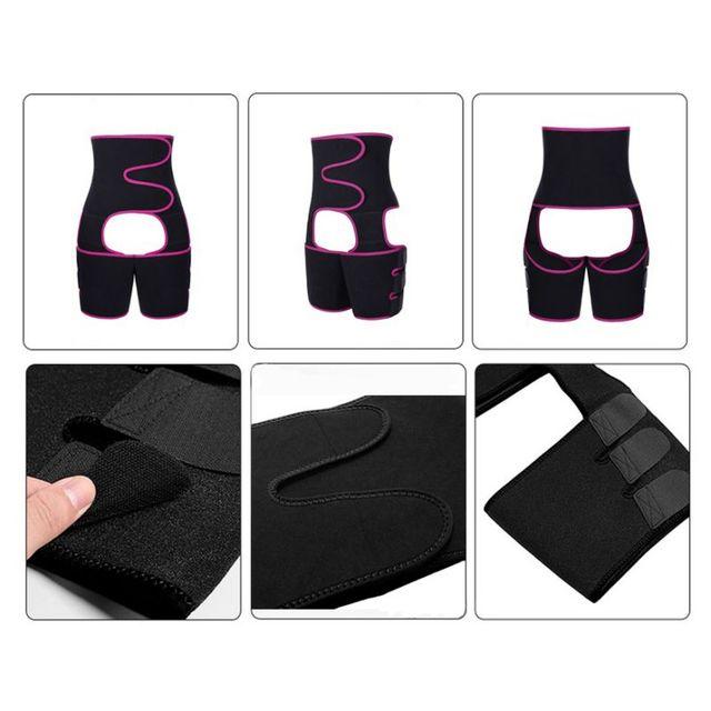 Sweaty Waist Belt Widening Yoga Fat Burning Belly Belt Running Leggings Stuffy Sweat Heat  Body Shaper Slim Shapewear 1 5